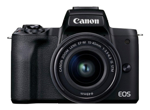 Imagen 1 de 7 de Canon EOS Kit M50 Mark II + lente EF-M 15-45mm f/3.5-6.3 IS STM sin espejo color  negro