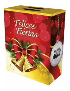 Caja Maletin Navidad - Navideño - Felices Fiestas X 50 Unid.