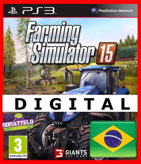 Farming Simulator 15 Ps3 Digital Portugues Simulador Fazenda