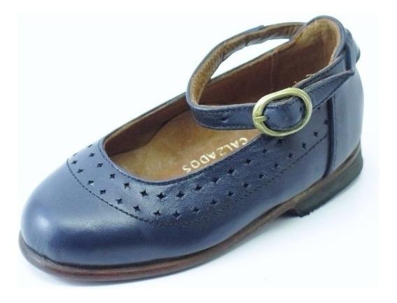 Divinos Zapatos Nena-legítimo Cuero Azul-un Solo Uso-20/21