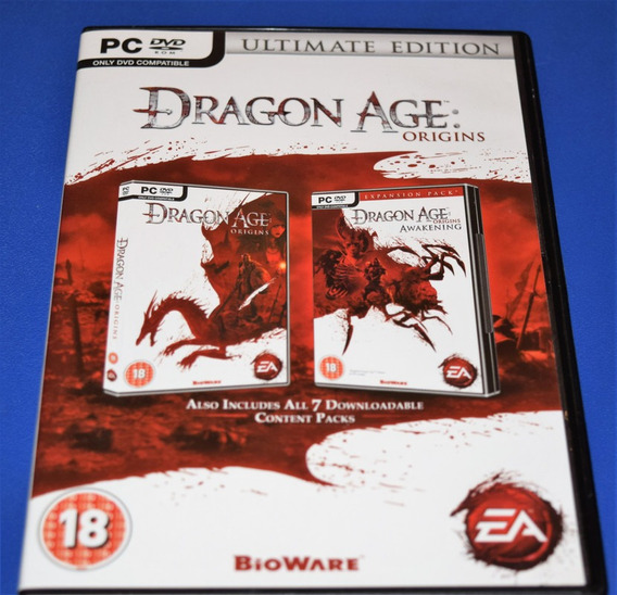 Dragon Age Origins + Awakening Pc Dvd Mídia Física (sem Key)