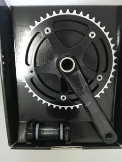 Plato Palanca Mono Aluminio 48 T Hollowtech Black
