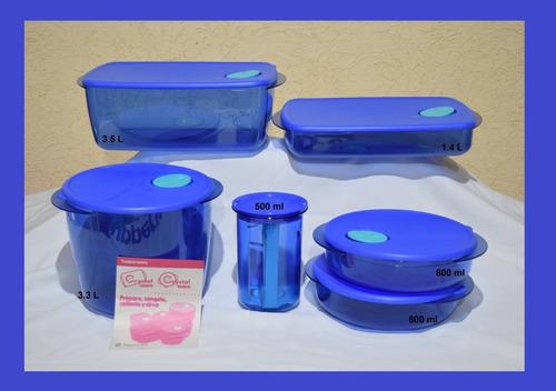 Juego De Lujo Azul Tupperware