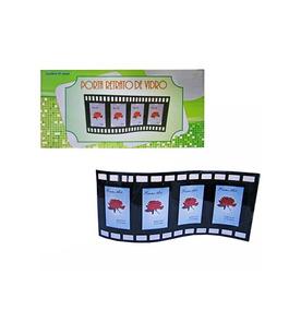 Porta Retrato De Vidro Filme 4 Poses 5x7 5cm