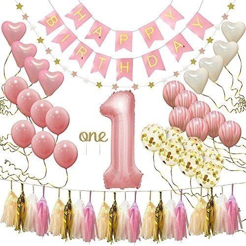 Primer Cumpleaños Niña Decoraciones Suministros Para Fiestas