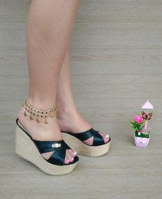 4119a5af3a8 Sandalias Plataforma De Color Negro Muy Elegantes - Zapatos para ...