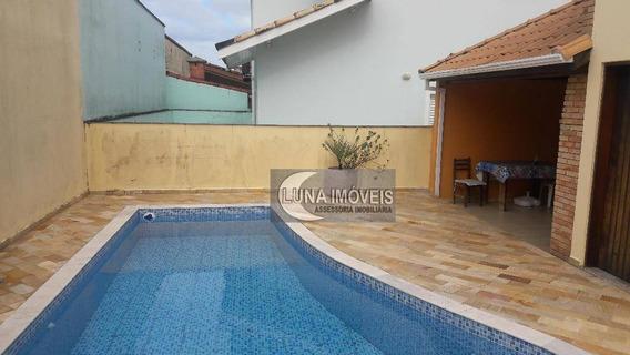 Sobrado Com 4 Dormitórios À Venda, 187 M² Por R$ 600.000,00 - Parque Balneário Oásis - Peruíbe/sp - So0484