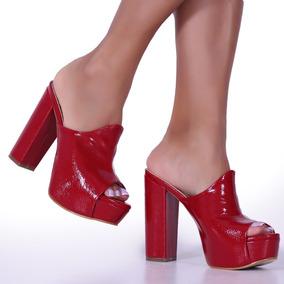 12a53a9afb Tamanco Feminino Robusto Salto Mega Pata Up Shoes Ref  750