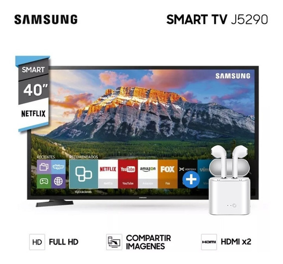 Tv Led Samsung Smart 40 J5290 Gtia Oficial + Auricu Inalam