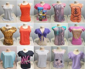Blusas Feminina Kit 15 Peça Atacado Saldo Verão Muito Barato