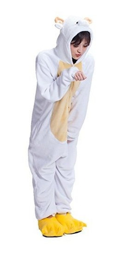 Ovejas Kigurumi Cosplay Halloween Mameluco Suave Traje Acoge