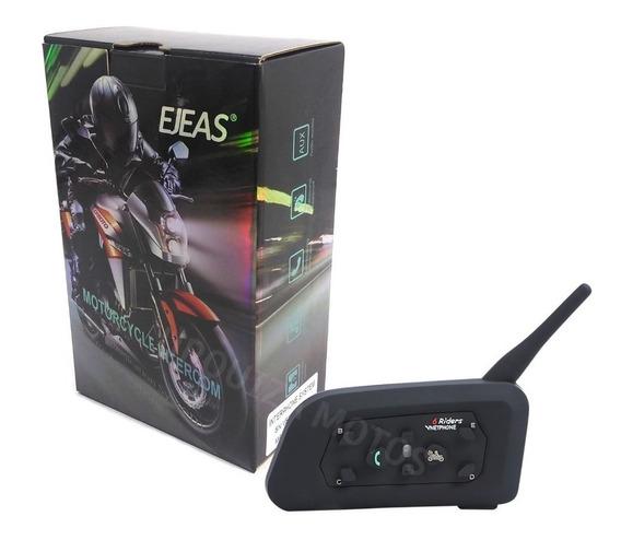 Intercomunicador Bluetooth Casco Moto V6 Pro 2019 1200 Mts E