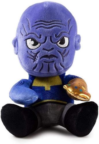 Imagen 1 de 3 de Kidrobot Marvel Avengers Phunny Thanos Peluche 18 Cms