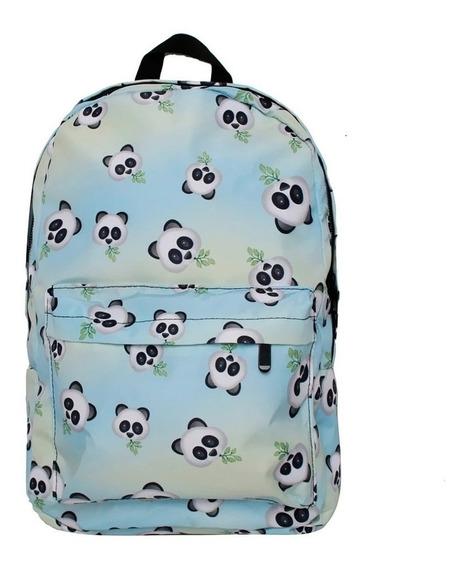 Mochila Escolar Infantil Juvenil Panda