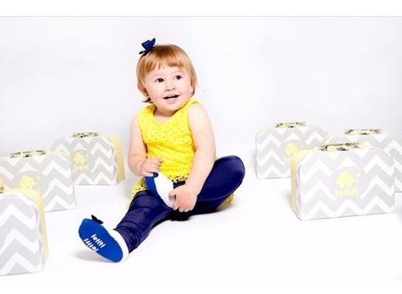 Meia Sapatinho Sapatilha Bebê Menina 0-12 Meses Frete Grátis
