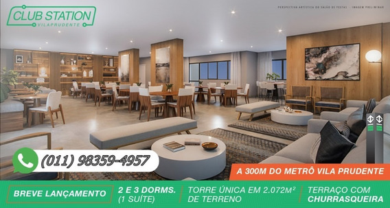 Club Station Vila Prudente | 63 A 91m² (1 Suíte) Torre Única