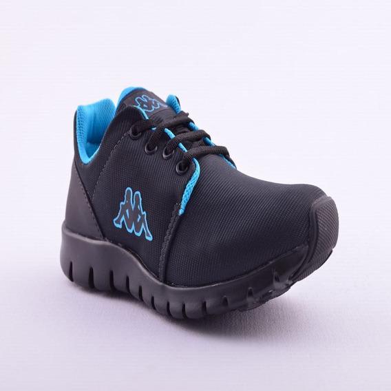 Zapatilla Jogg Kid Black Blue Kappa Niño