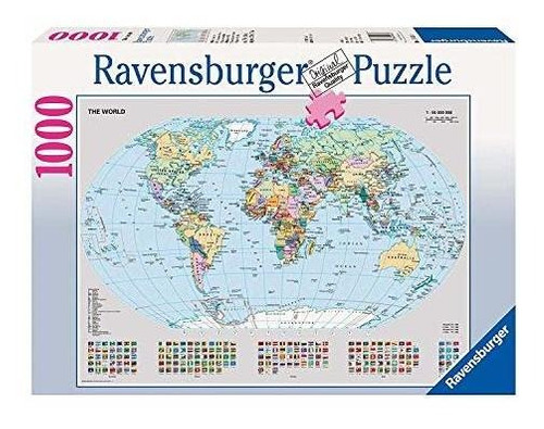 Ravensburger 15652 Mapamundi Político - Puzzle De 1000