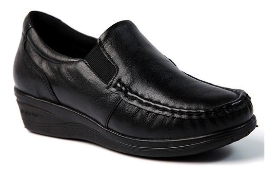 Mocassim Feminino 182 Em Couro Preto Doctor Shoes