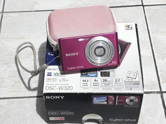 Câmera Digital Sony Rosa