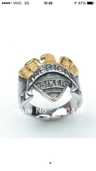 Anel American Biker Numeração Brasil: 22/23/24/25/26/27