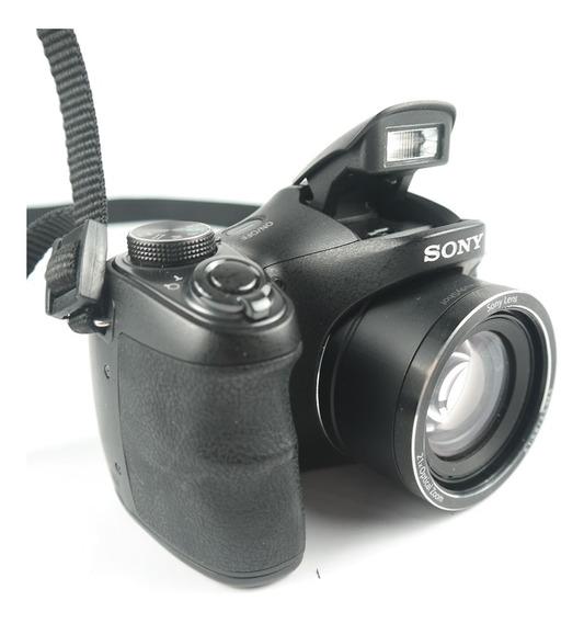 Câmera Fotografica Digital Sony Dsc-h100 Preta 16.1mp,