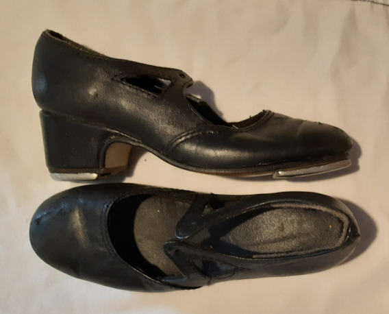 Zapatos Tap De Cuero Con Chapas 29-30