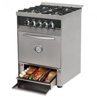 Cocina Industrial Sol Real 4 H 58cm Cajon Parrilla Acero
