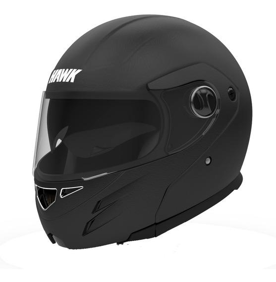 Casco Moto Hawk Rs5 Thick Rebatible Mate Relieve Doble Visor