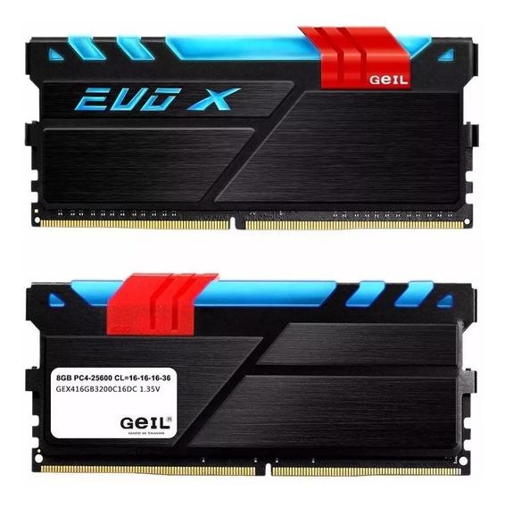 Memoria Ddr4 16gb Geil Evo X Rgb Ddr4 3200mhz 2x 8gb