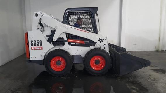 Minicarregadeira Bobcat S650 - 2014 - 1767hs - Aberta Com Hf