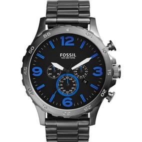 Relogio Fossil Jr1478 Cinza E Azul Direto Dos Eua