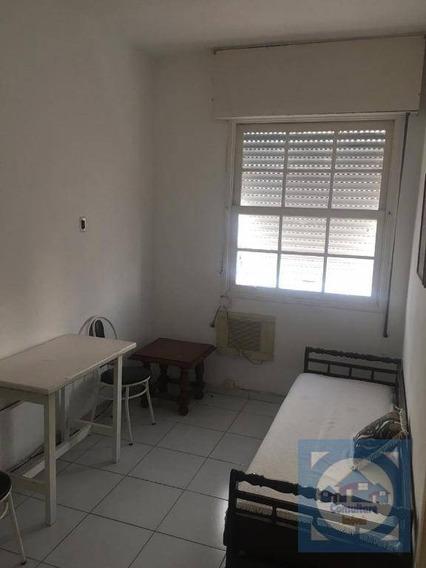 Kitnet Com 1 Dormitório Para Alugar, 35 M² Por R$ 1.300/mês - Boqueirão - Santos/sp - Kn0496