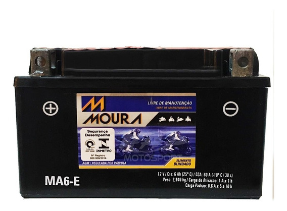 Ma6-e Moura Bateria Kasinski Cruze 150 Mirage 150 2009-2013