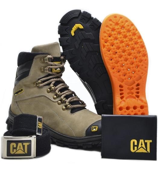 Kit Bota 2160 Caterpillar + Carteira + Cinto + Palmilha