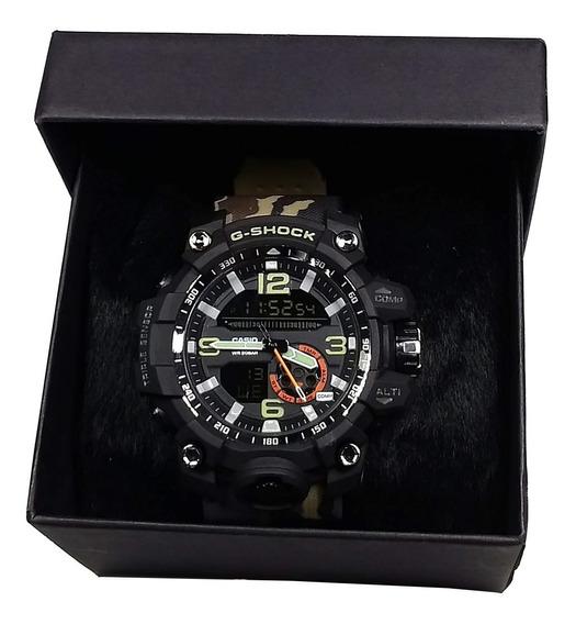 Relógio Pulseira Borracha Camuflado Esportivo Masculino