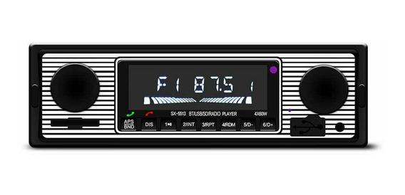 Rádio Sem Fio Do Carro Vintage Mp3 Player Estéreo Usb/aux Cl