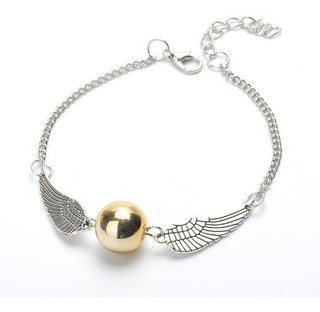 Harry Potter 2x1 Snitch Pulsera Dorada Golden Quidditch