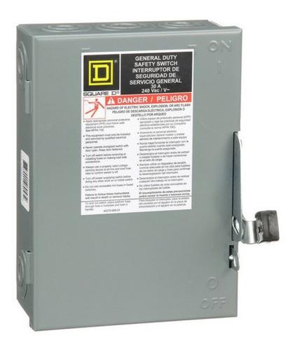 Imagen 1 de 2 de Interruptor De Seguridad 2 Polos 30 A. Clase 3130 - D221n