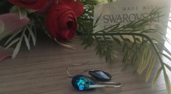 Aretes Azules De Cristal Swarovski