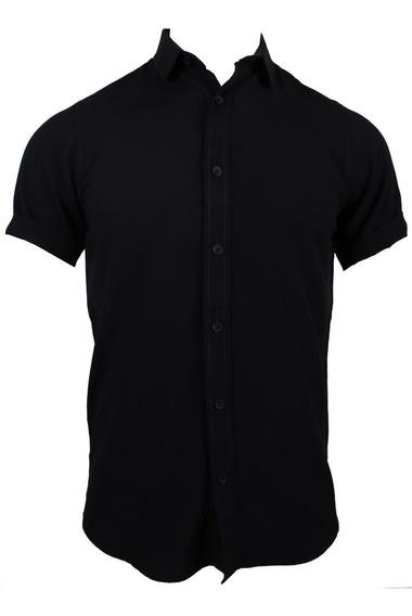 Camisa M/c Negro Carbon