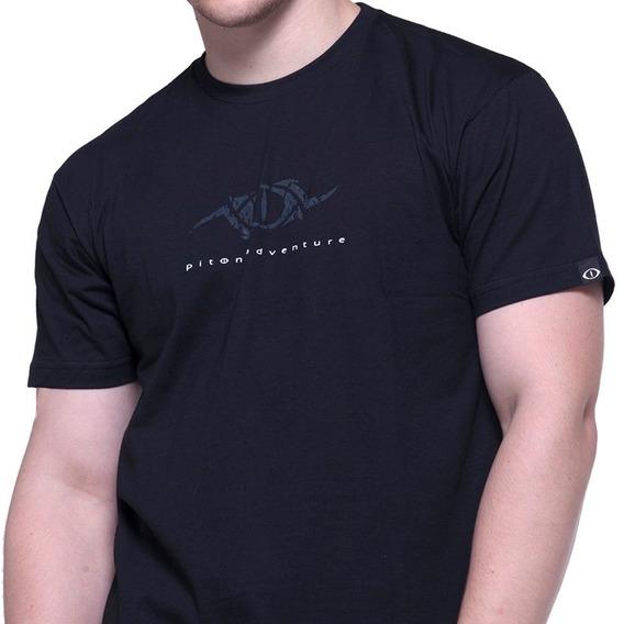 Camiseta De Algodão Snake Preta