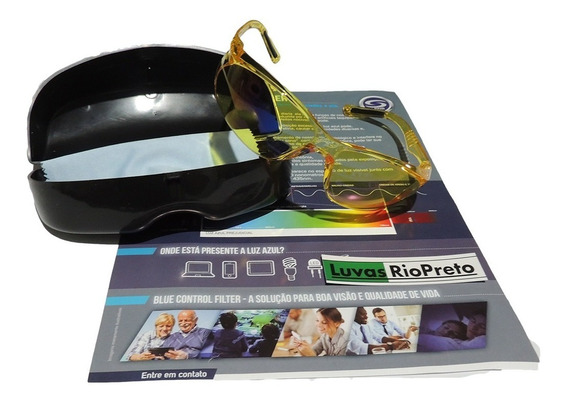 Óculos Proteção Luz Azul Computador Celular Blue Control