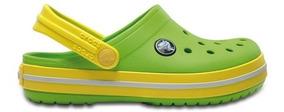 Zapato Crocs Unisex Infantil Crocband Verde / Amarillo