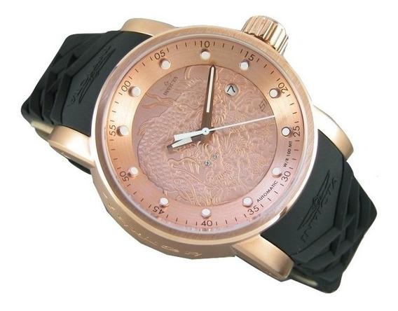 Relógio Invicta 18181 Original Yakuza Automático Ouro Rose