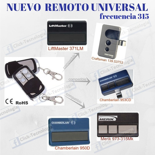 Control Remoto Puertas Automaticas Craftsman Liftmaster