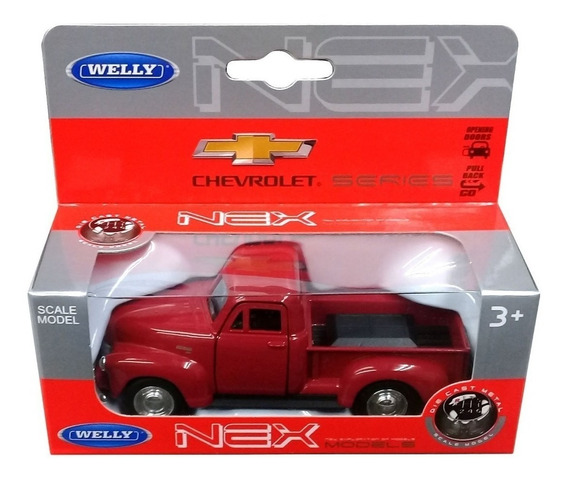 Welly Camioneta Chevrolet 1953 Escala 1:36 Metal Detalles