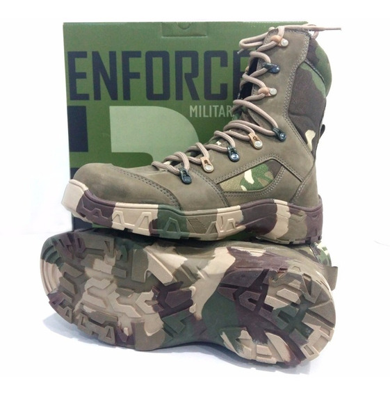 Bota Feminina Camuflada Enforcer Airsoft Militar Impermeável