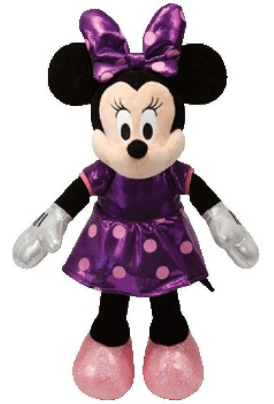 Pelúcia Beanie Babies Ty Disney Dtc 3718 Minnie Purple