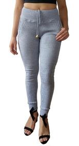 Calça Feminina De Ribana Tipo Moletom Cos Alto Calça Kit 5
